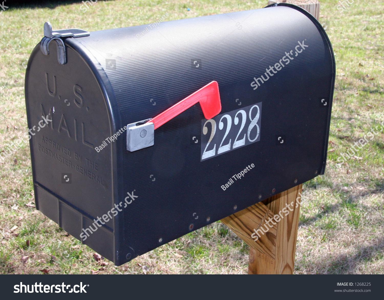 Large Black Mailbox Stock Photo 1268225 - Shutterstock