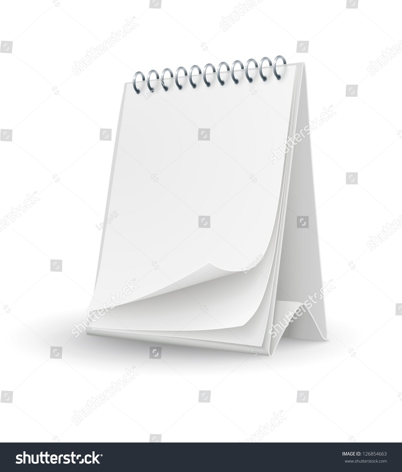 Calendar Template Blank Pages Eps10 Vector Stock Vector