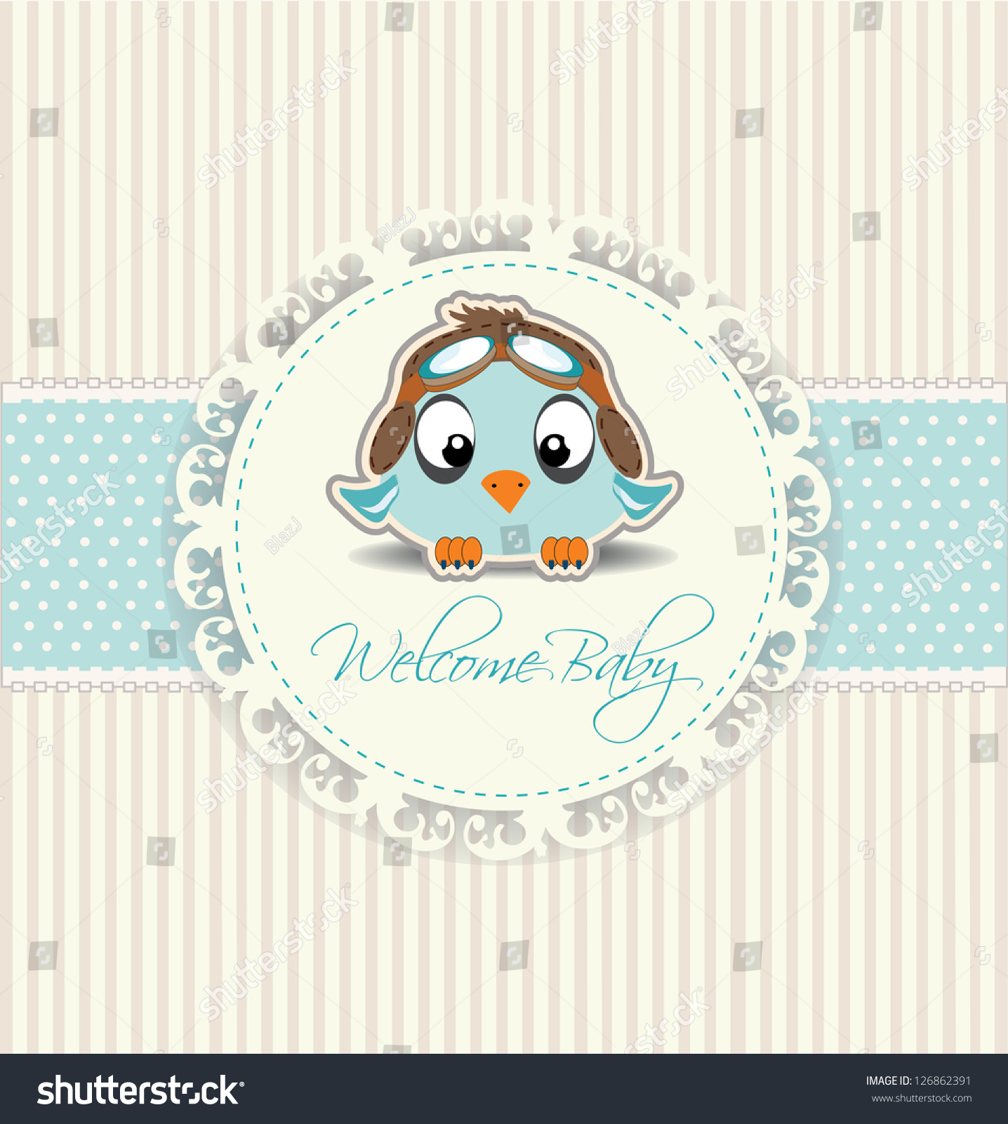 New Welcome Baby Boy Card Stock Vector 126862391 - Shutterstock