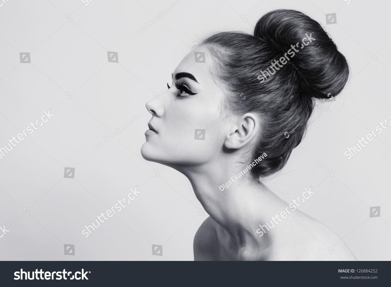 Black White Shot Young Beautiful Girl Stock Photo 126884252 - Shutterstock-7292