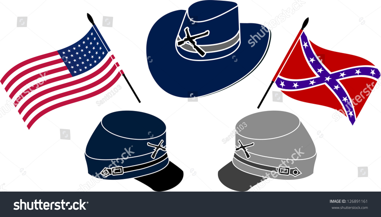 Symbol American Civil War Stencil Second Stock Vector Royalty Free