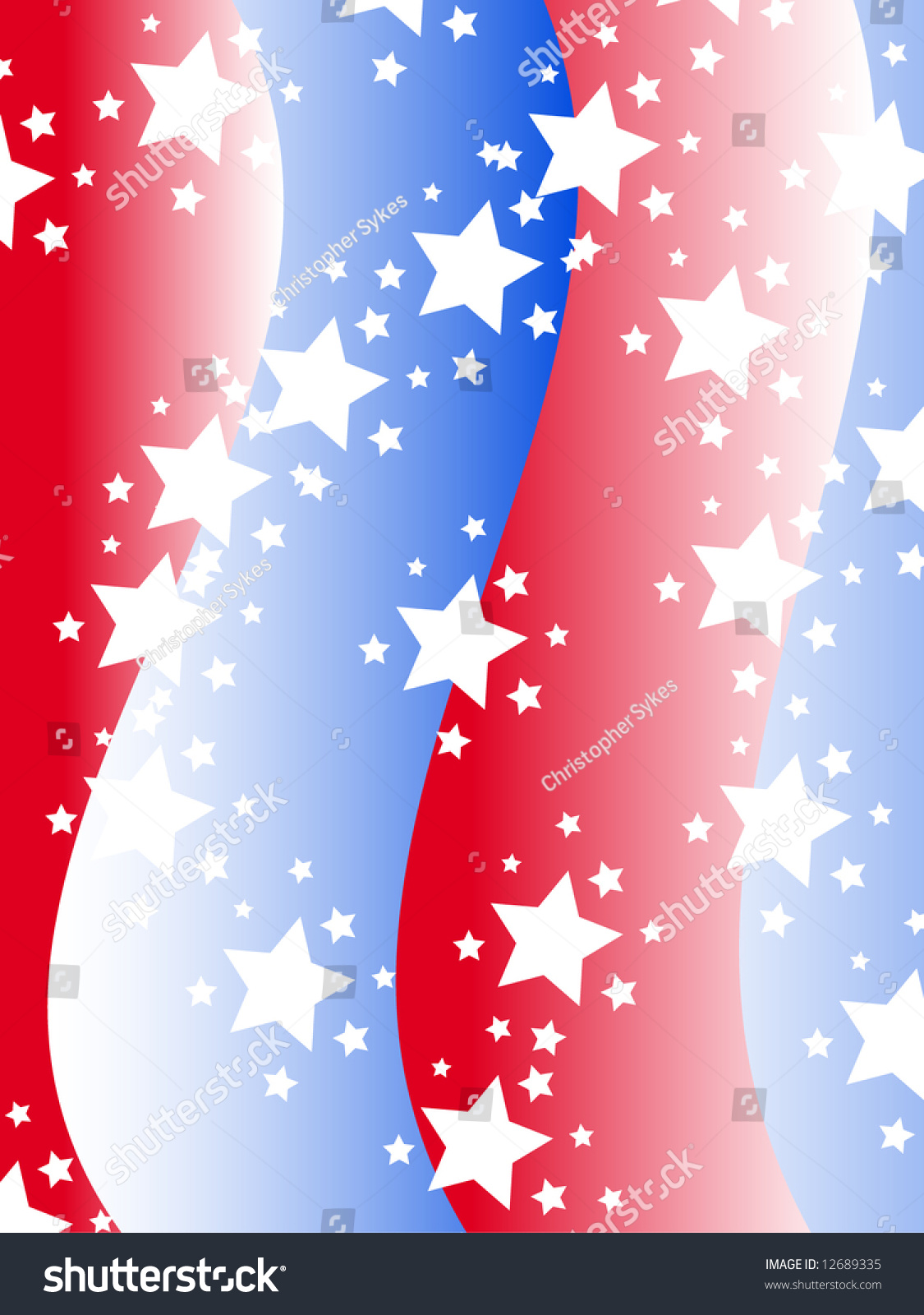patriotic background with stars and stripes in red white