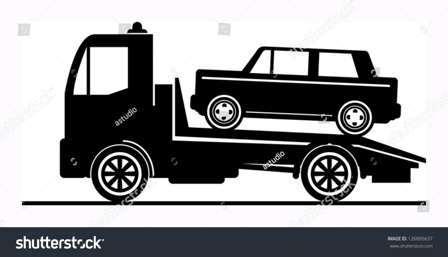 Car Salvage Towing Sign Vector Illustration Stock Vector 126895637 ...
