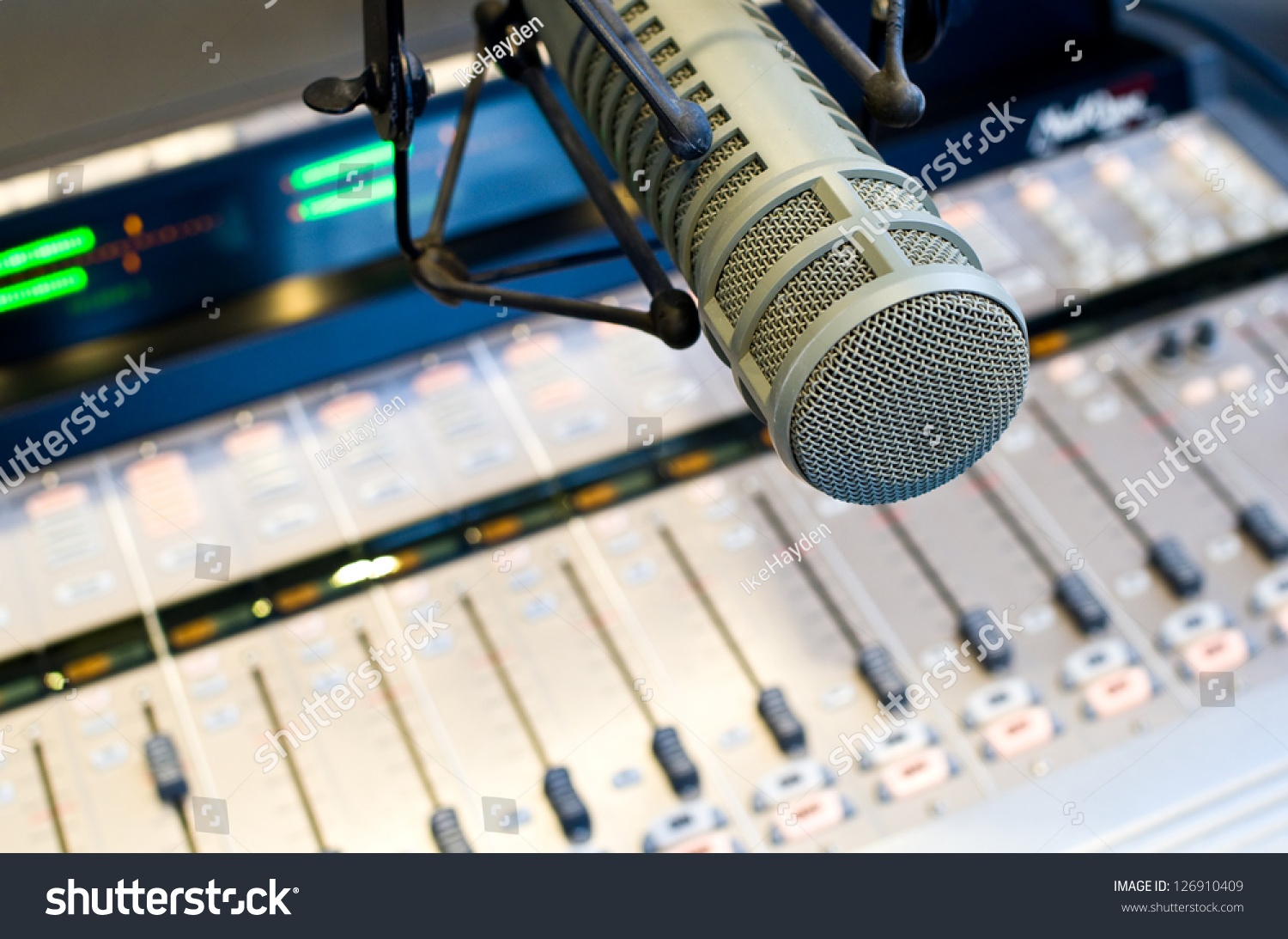 Radio Station Microphone Mixer Stock Photo Edit Now 126910409 Low Cost Mic And