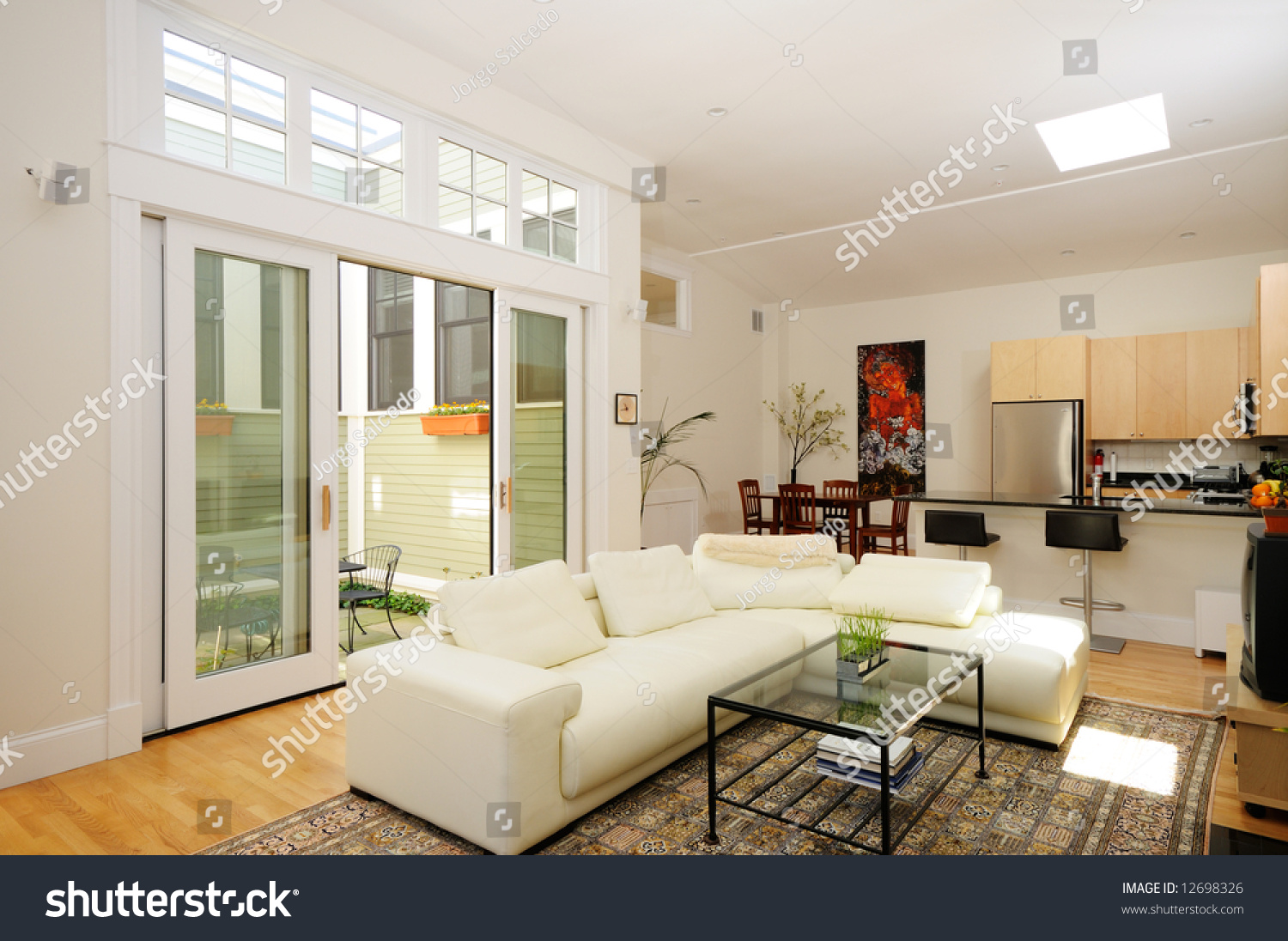 Open Plan Living Room Dining Room Stock Photo (Royalty Free ...
