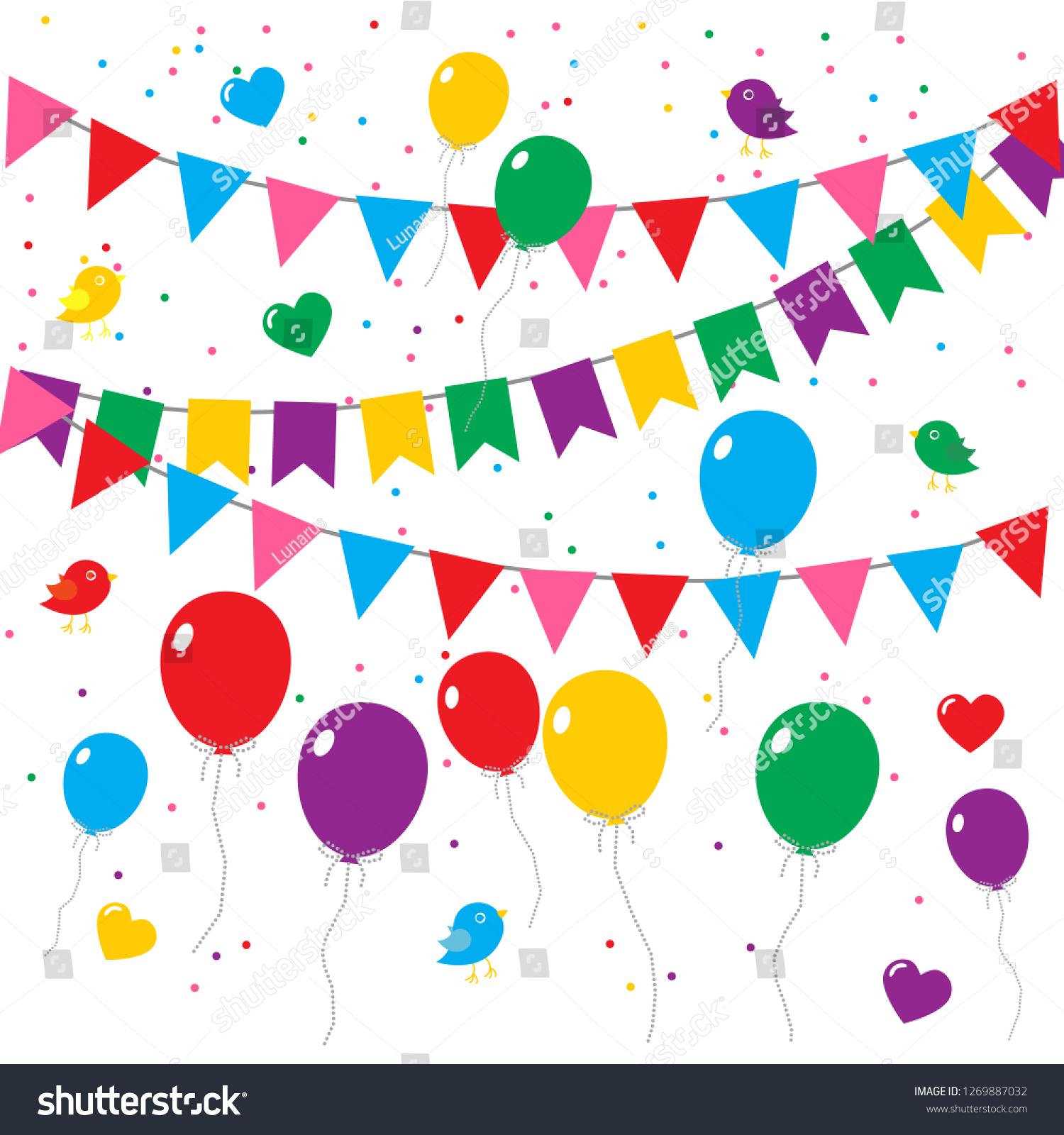 https www shutterstock com image vector vector birthday invitation card balloons flags 1269887032