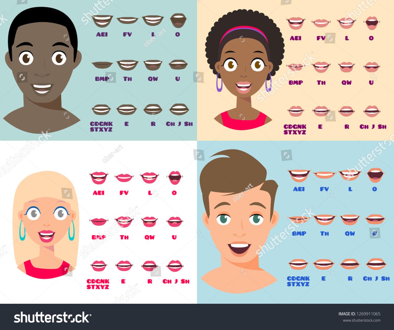 Cartoon Talking Black White Woman Man Stock Vector Royalty Free 1269911065