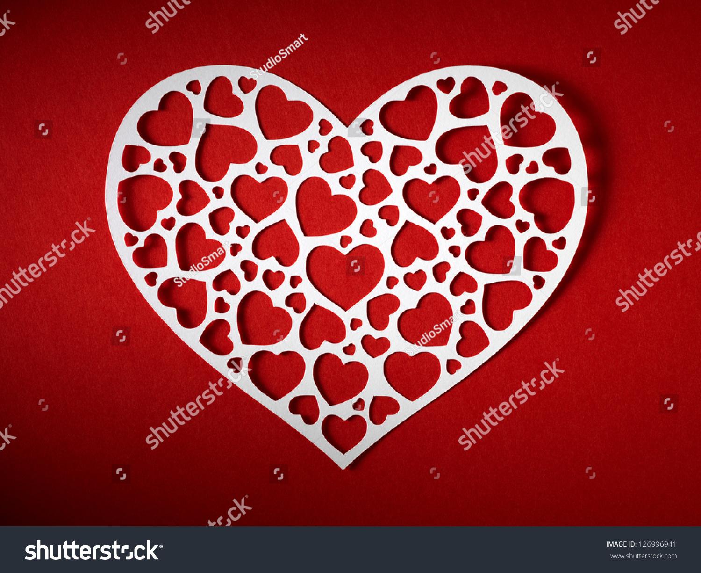 Valentine Day Card Paper Cutting Design Photo 126996941 – Valentines Day Card Design