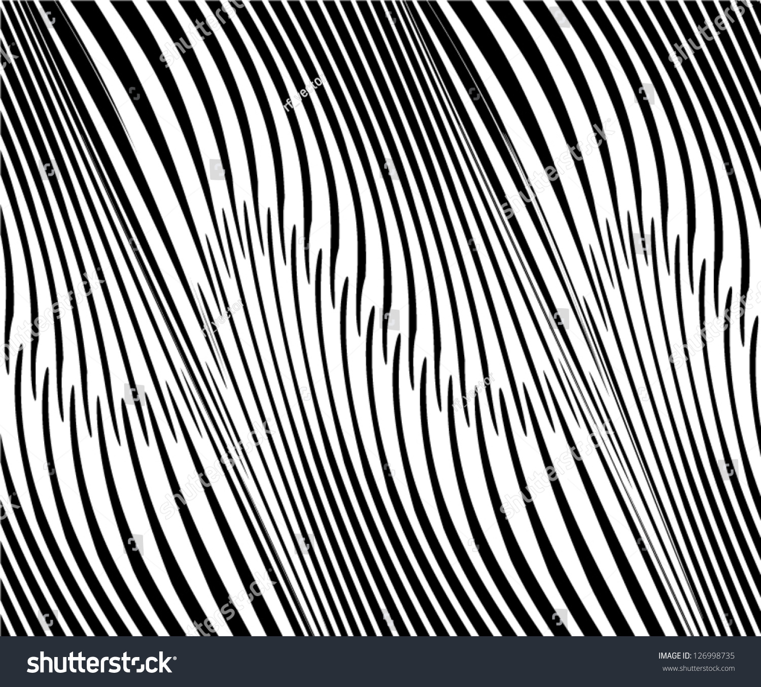 Animal Background Zebra Background Stock Vector 126998735