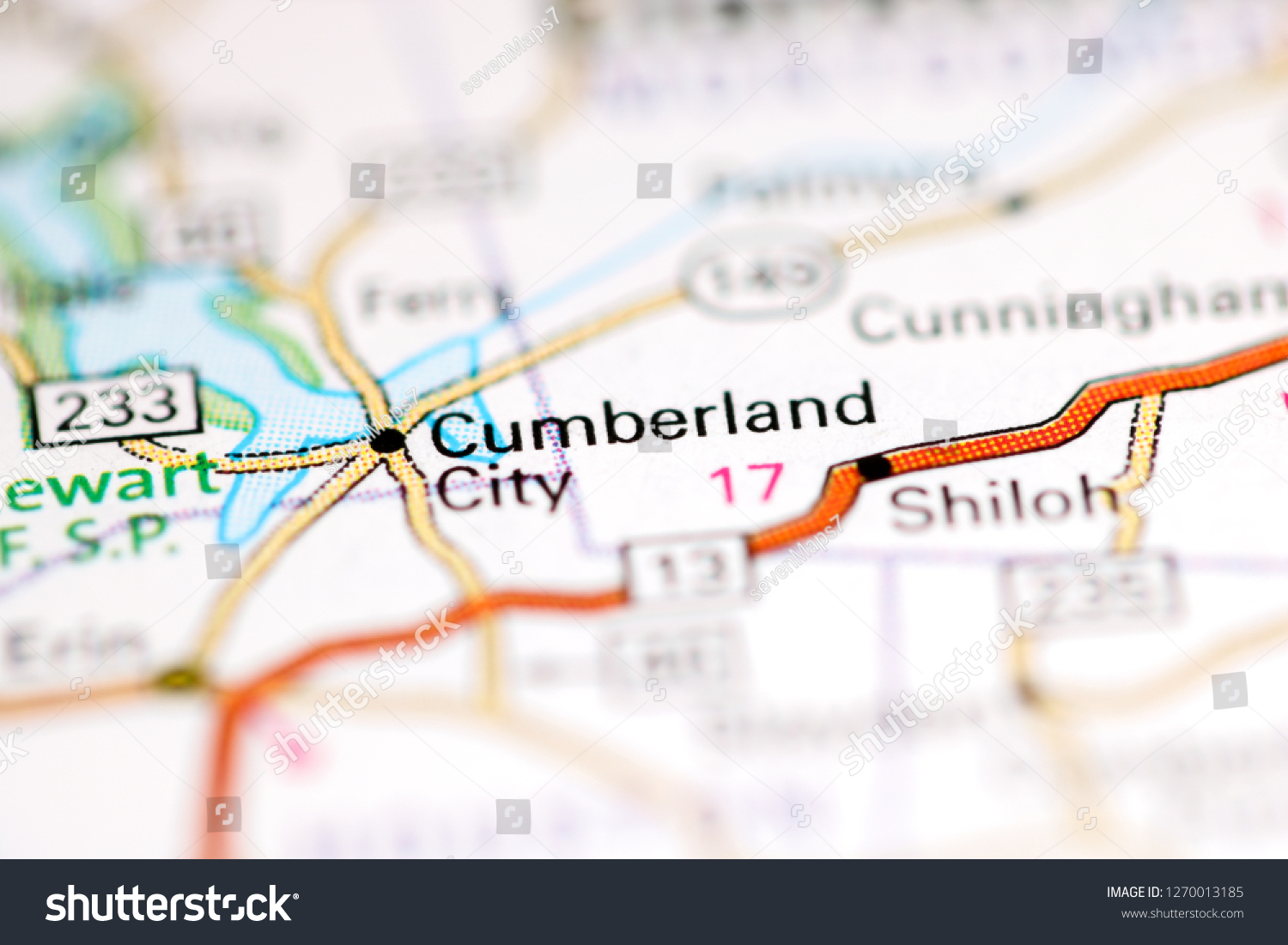 berland City Tennessee USA On Geography Stock Photo (Edit Now ... on