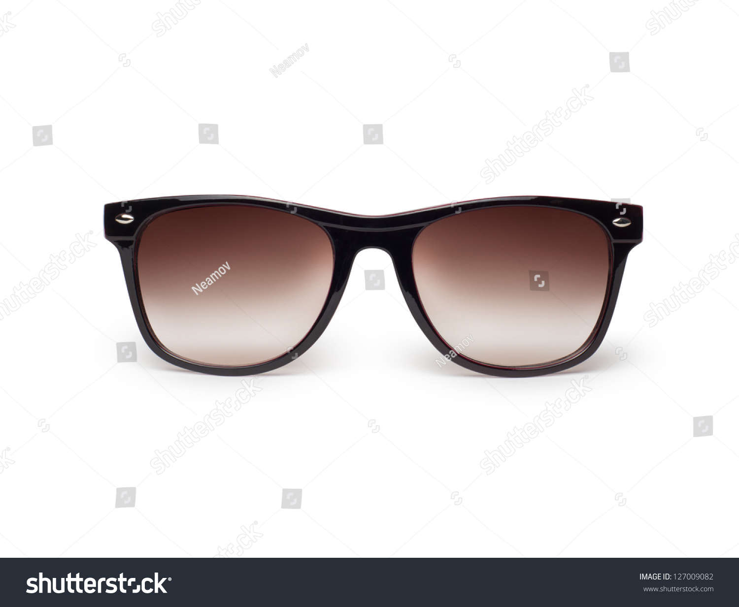 Sunglasses Isolated Against White Background Stock Photo