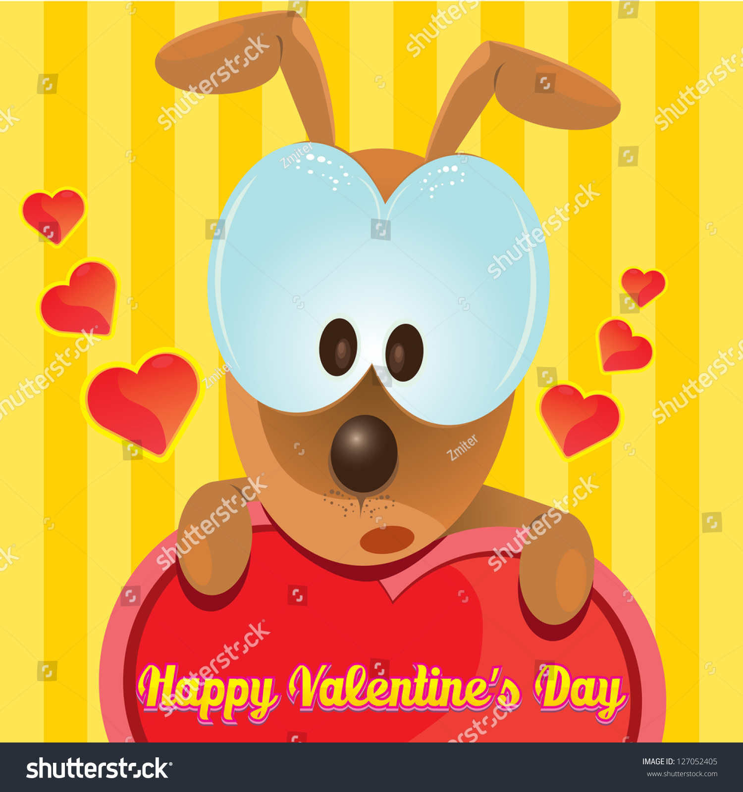 valentine day love beautiful card vector stock vector 127052405