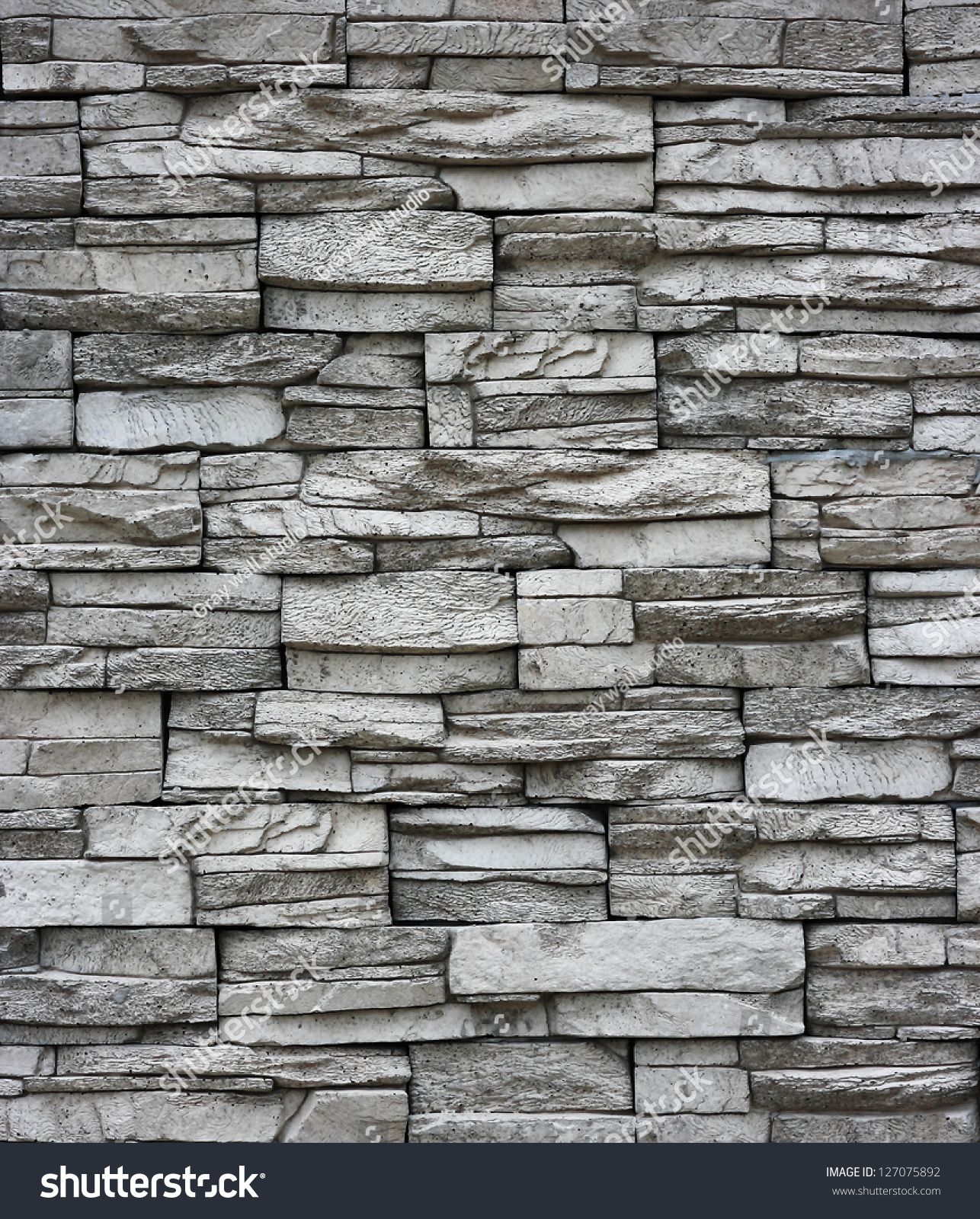 Grey Brick Wall. Stock Photo 127075892 : Shutterstock