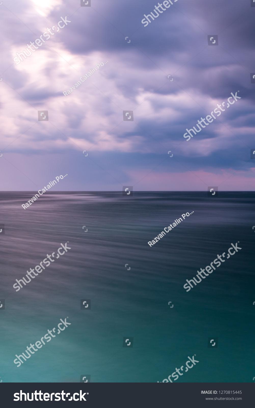 Seaside Landscape Gradiant Sea Looking Green Stock Photo Edit Now 1270815445