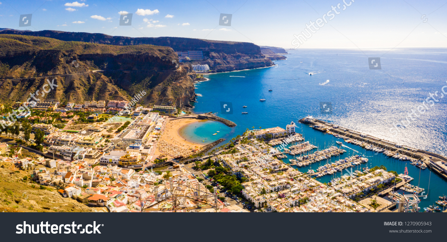 Puerto de Mogan town on the coast of Gran Canaria island, Spain. #1270905943