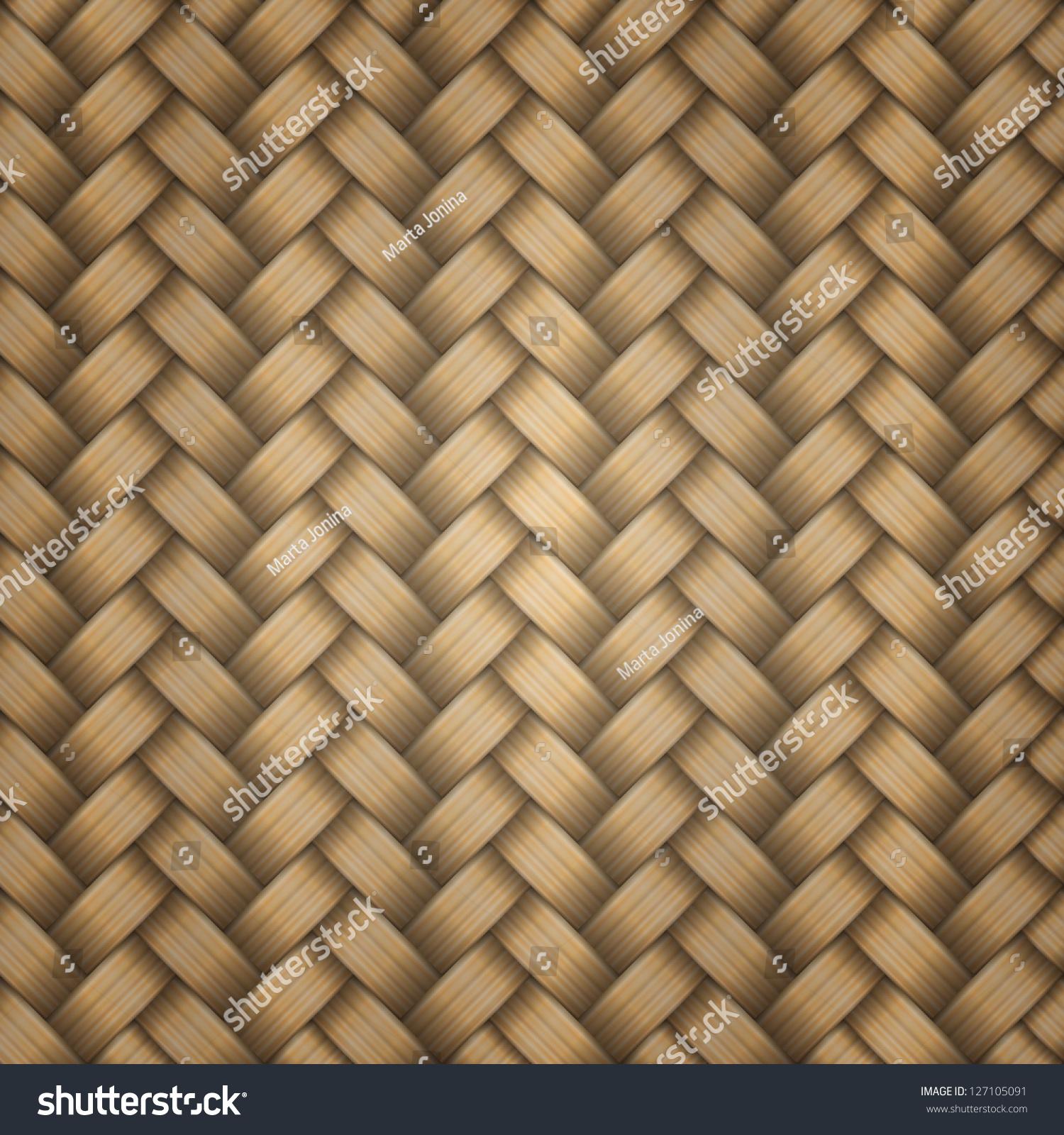 Seamless Tiling Wicker Texture Vector Stock Vector