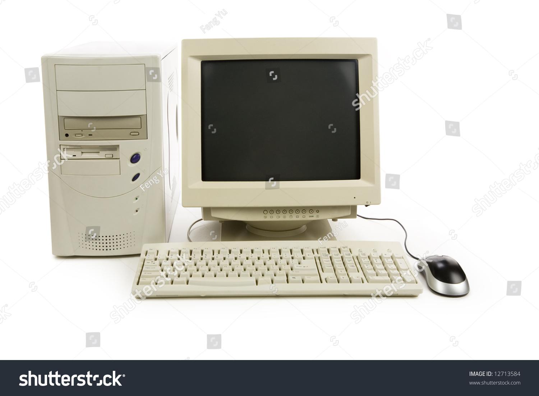 Desktop Computer Close Up Shot Stock Photo 12713584 ...