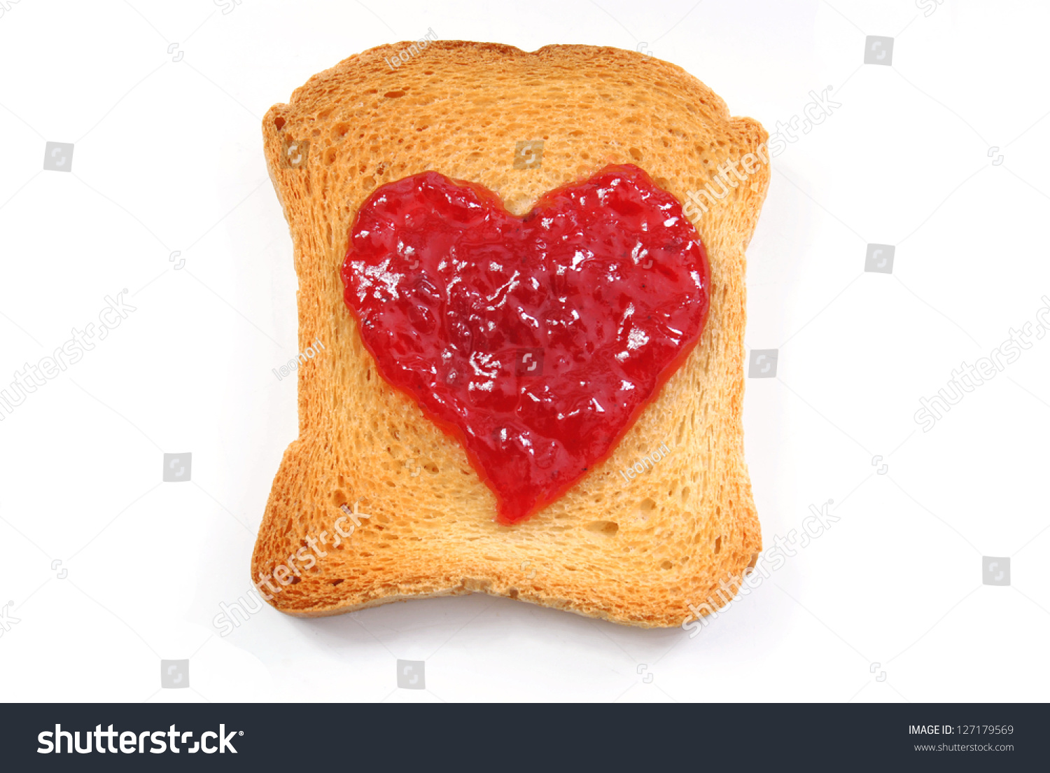 Red Fruit Jam Heart Symbol On Stock Photo Edit Now 127179569