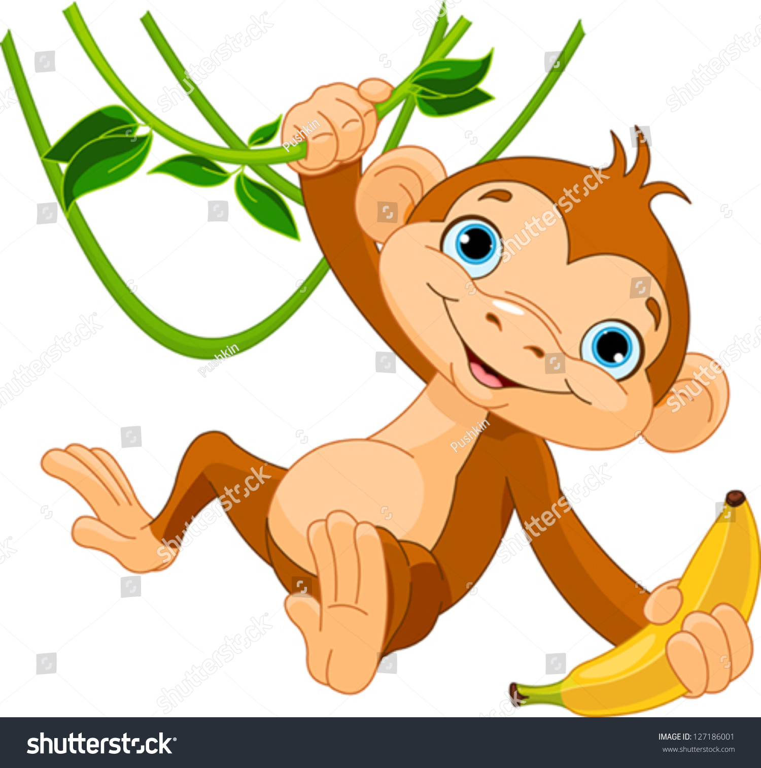 Gallery For gt Cartoon Baby Monkey Hanging