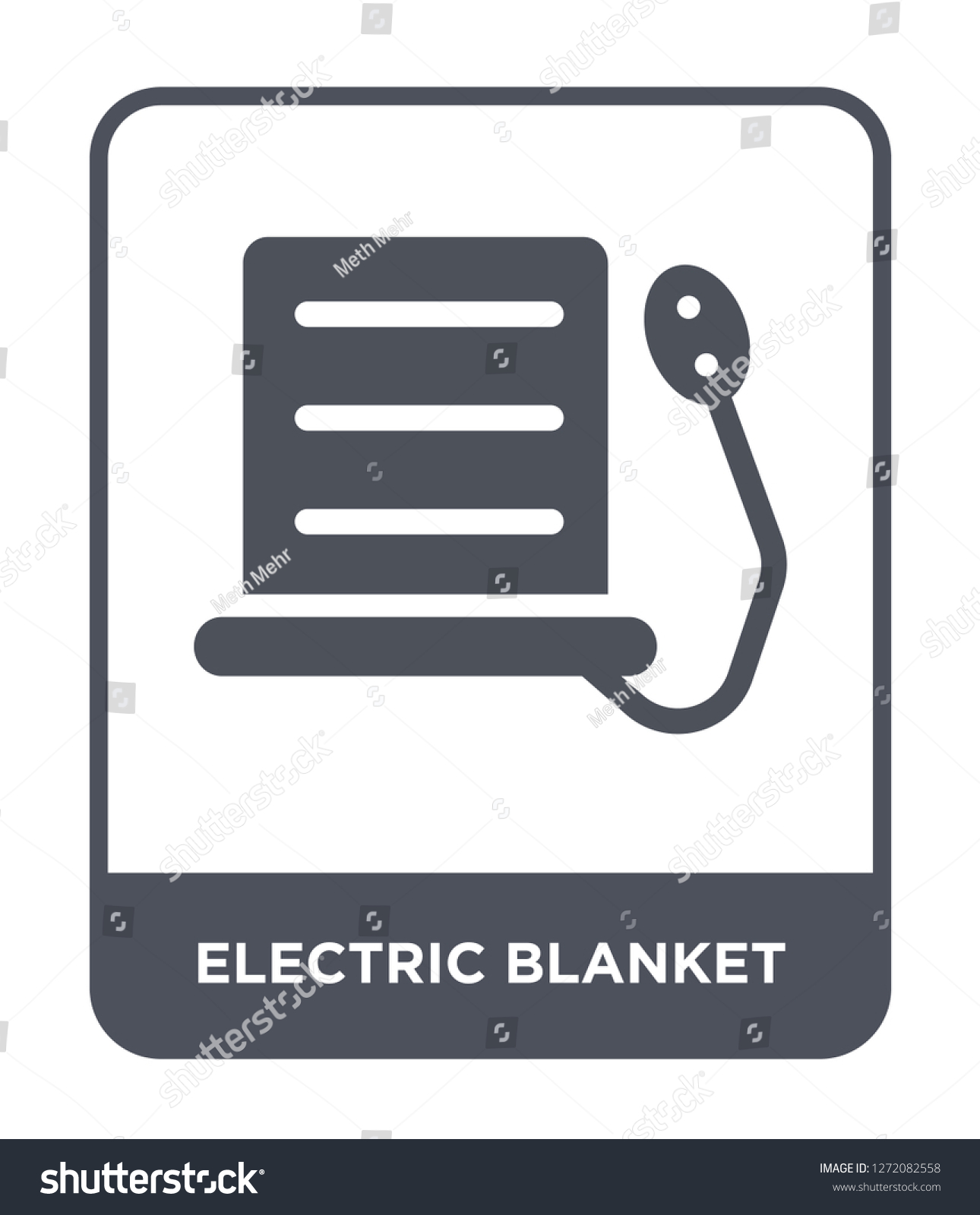 Electric Blanket Icon Vector On White Stock Vector Royalty