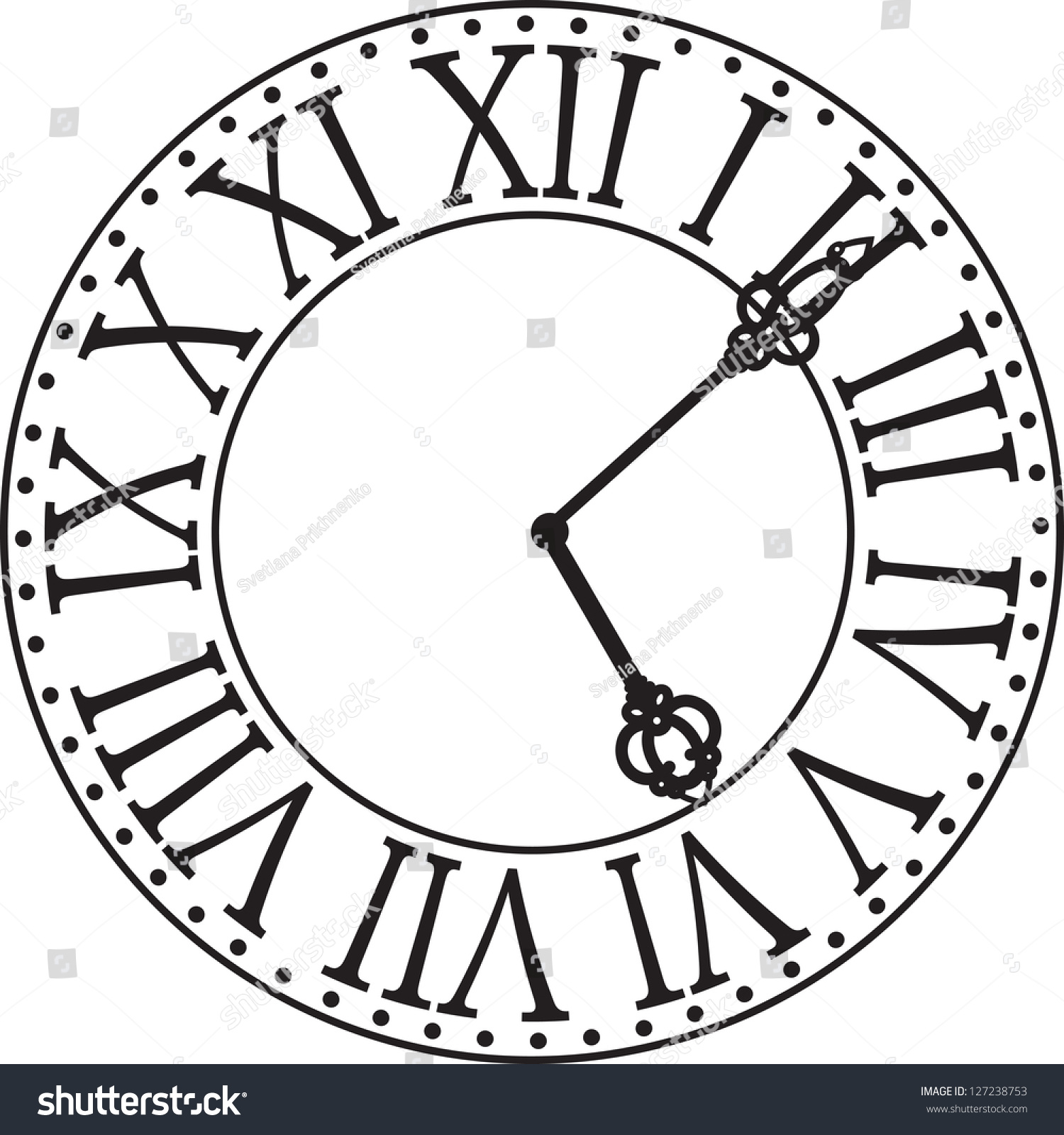 An Old Fashioned Antique Clock Stock Photo, Picture And Royalty ...