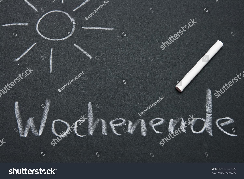 Schultafel  Schultafel Wochenende Stock Photo 127241195 - Shutterstock