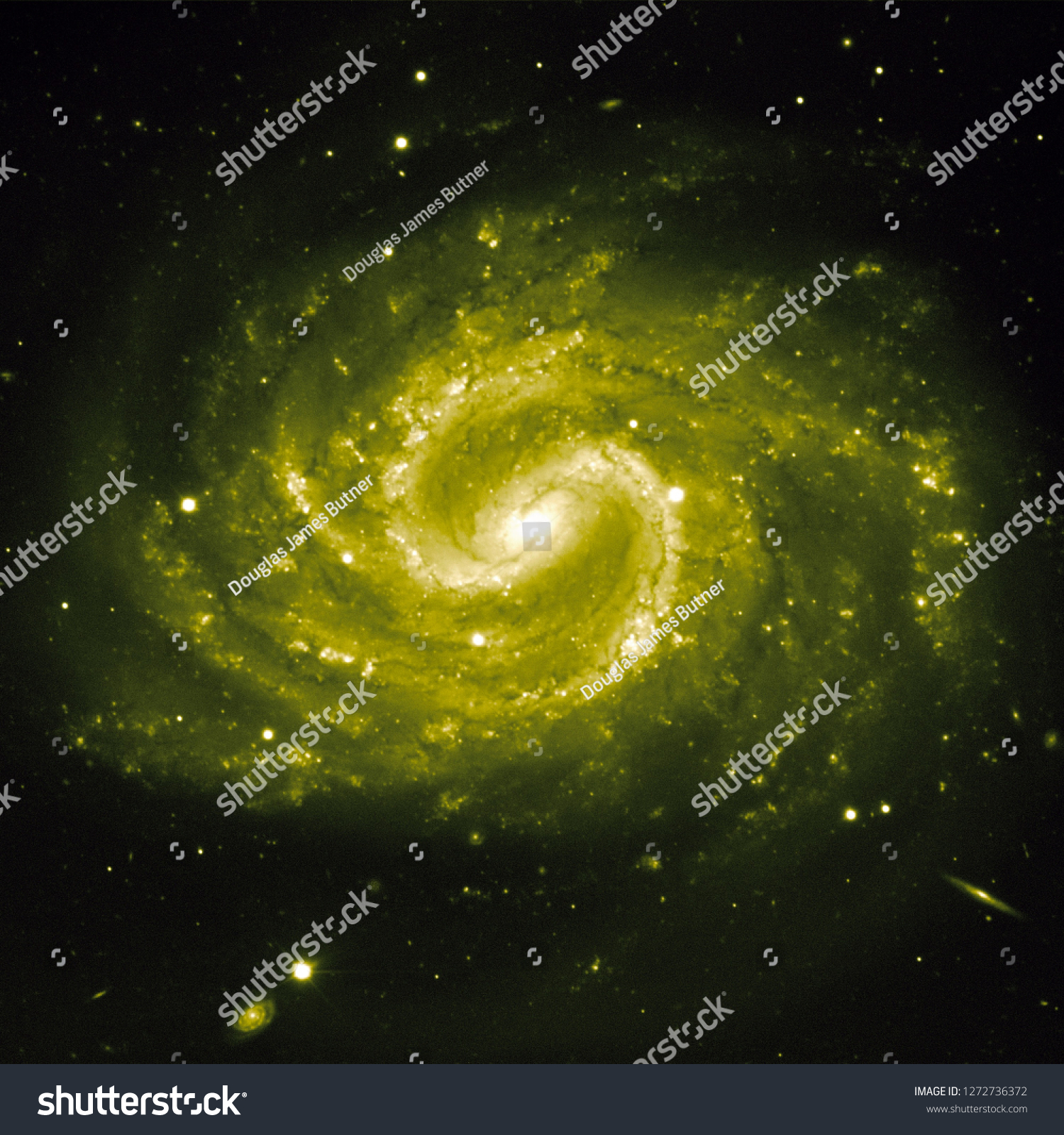 stock photo the lost galaxy recolored yellow galaxy universe nebula background wallpaper original image by eso 1272736372