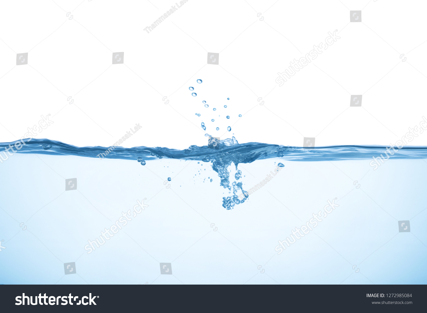 Water with splash and bubbles #1272985084