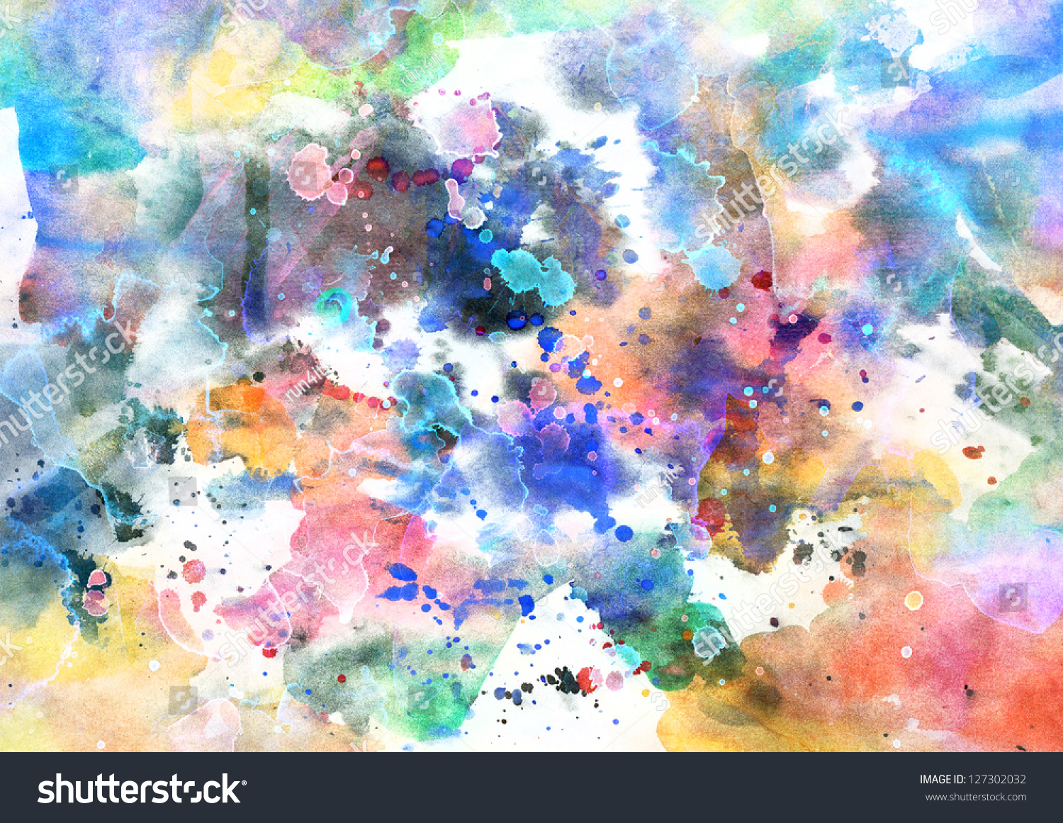 Abstract Background Watercolor On Grunge Paper Stock ...