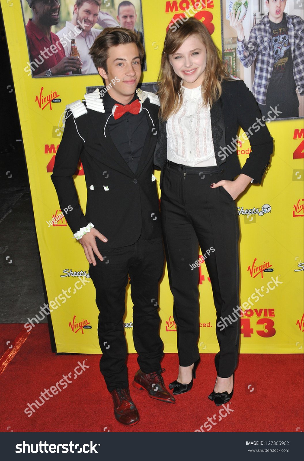 Chloe Moretz & Ashley Tisdale: 'Movie 43' Premiere!: Photo ... |Chloe Grace Moretz And Jimmy Bennett