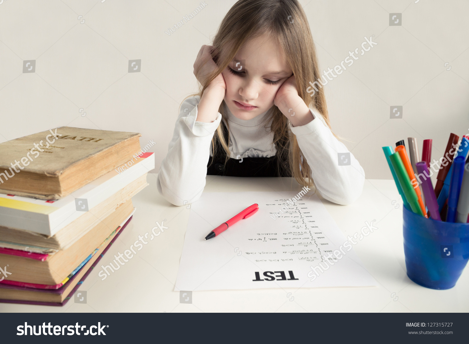 Worksheet How Do You Study For A Math Test worksheet how do you study for a math test mikyu free little girls studying thinking hard on stock