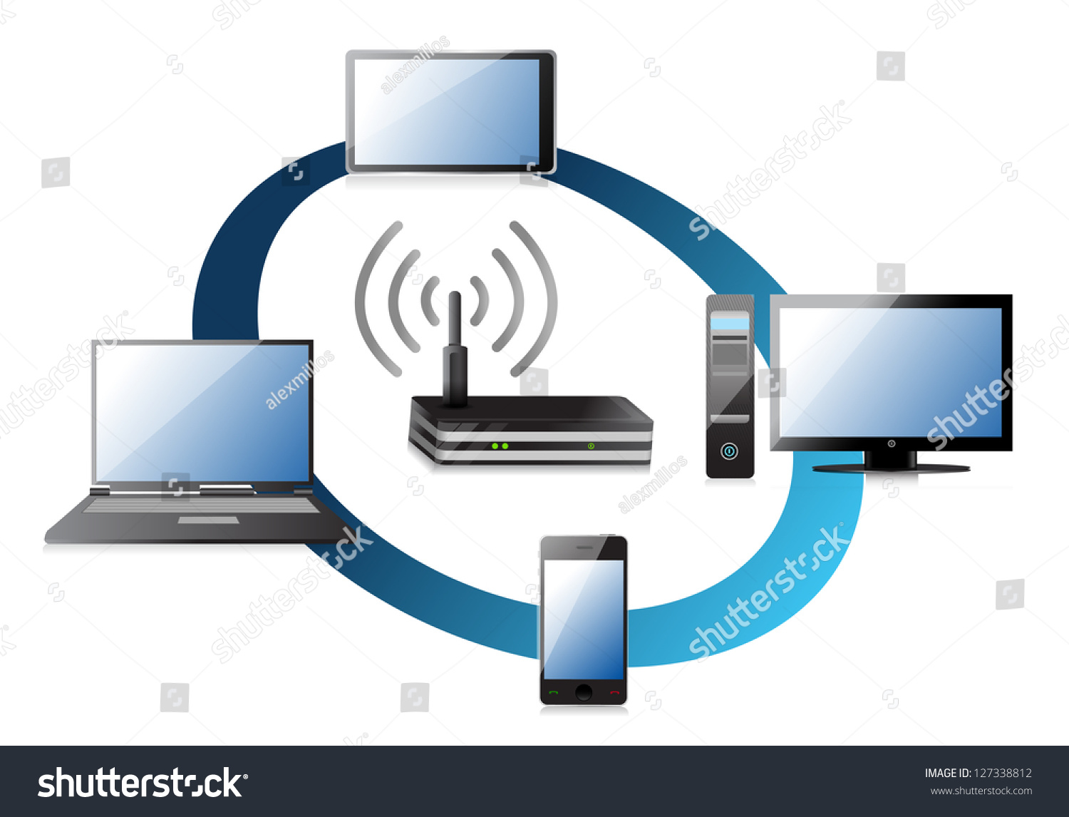 stock photo home wifi network concept illustration design over a white background 127338812 home wifi network concept illustration design over a white,Home Wifi Network Design
