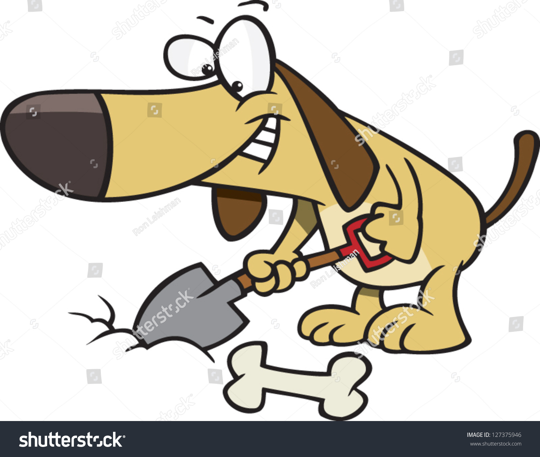 Dog Burying Food