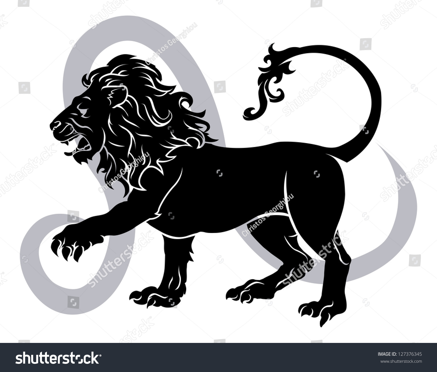 https://image.shutterstock.com/z/stock-vector-illustration-of-leo-the-lion-zodiac-horoscope-astrology-sign-127376345.jpg Leo Animal Sign