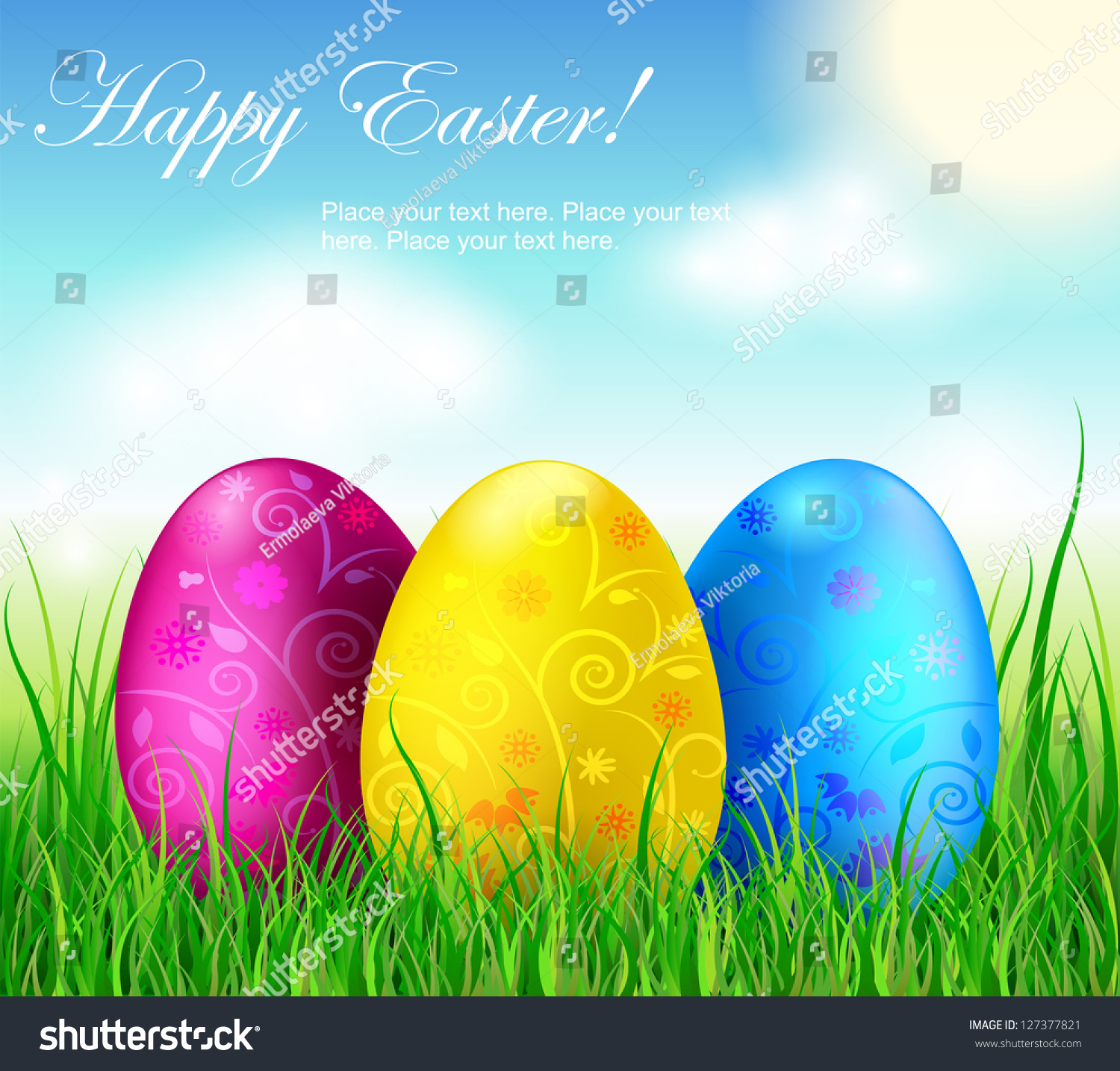 beautiful easter eggs background - photo #29