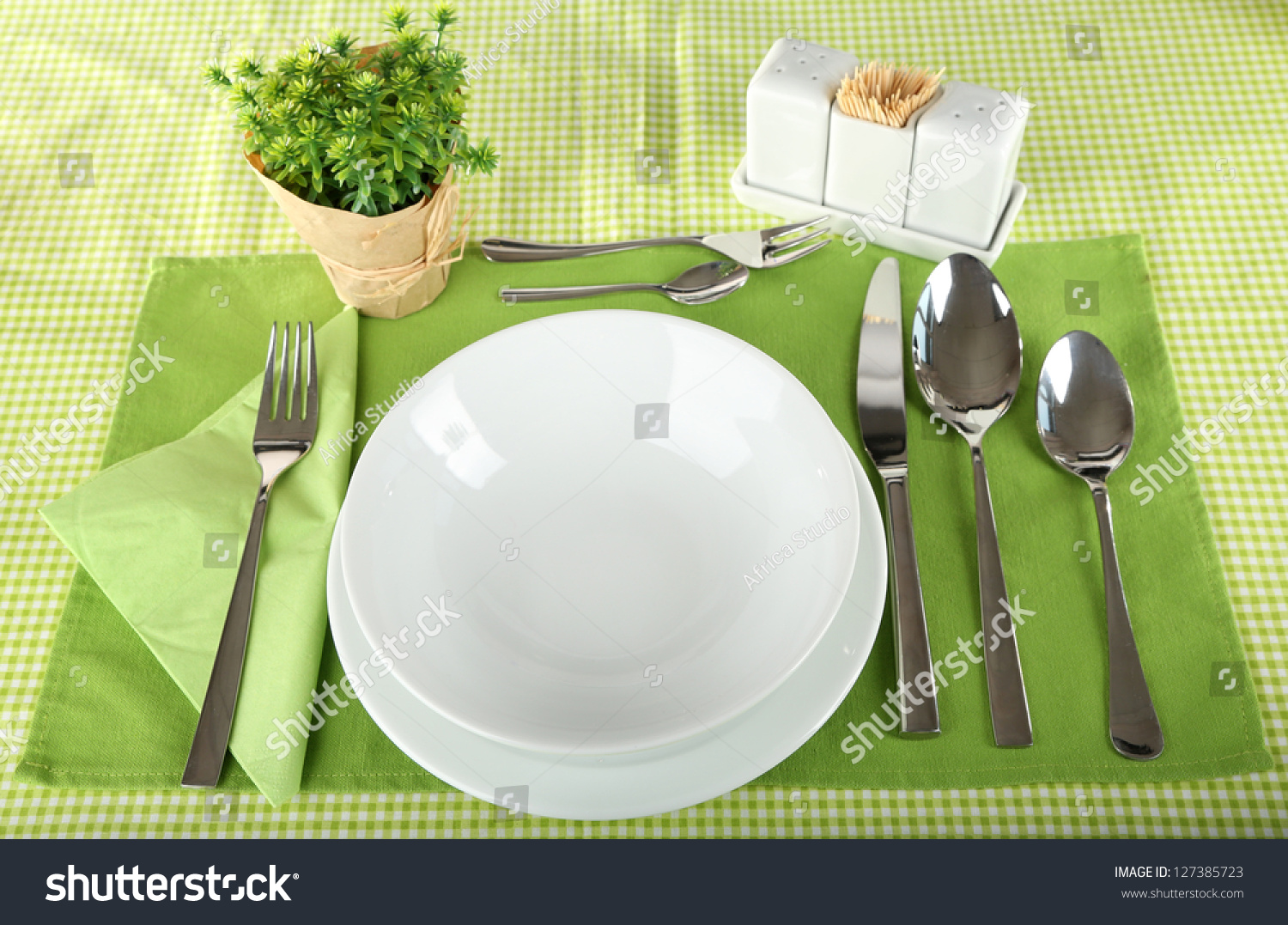 Table Setting For Breakfast Table Setting Breakfast Stock Photo 127385723 Shutterstock