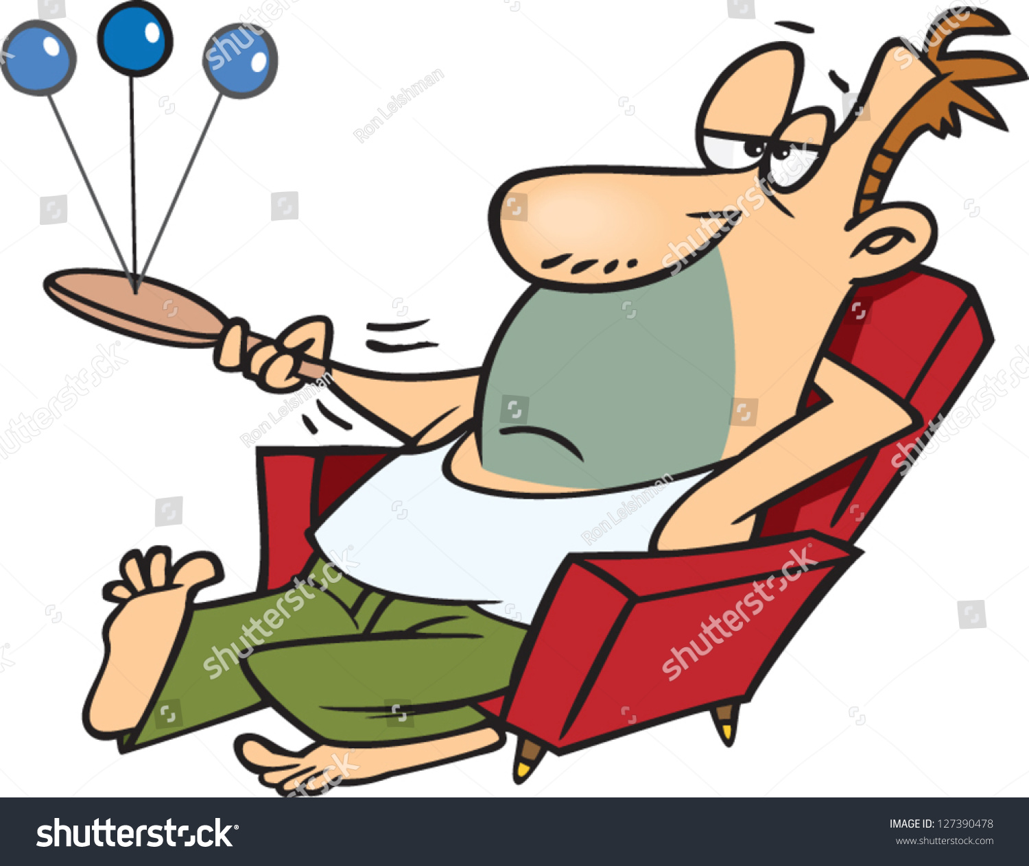 Lazy Person On Couch Cartoon Vector Illustration La...