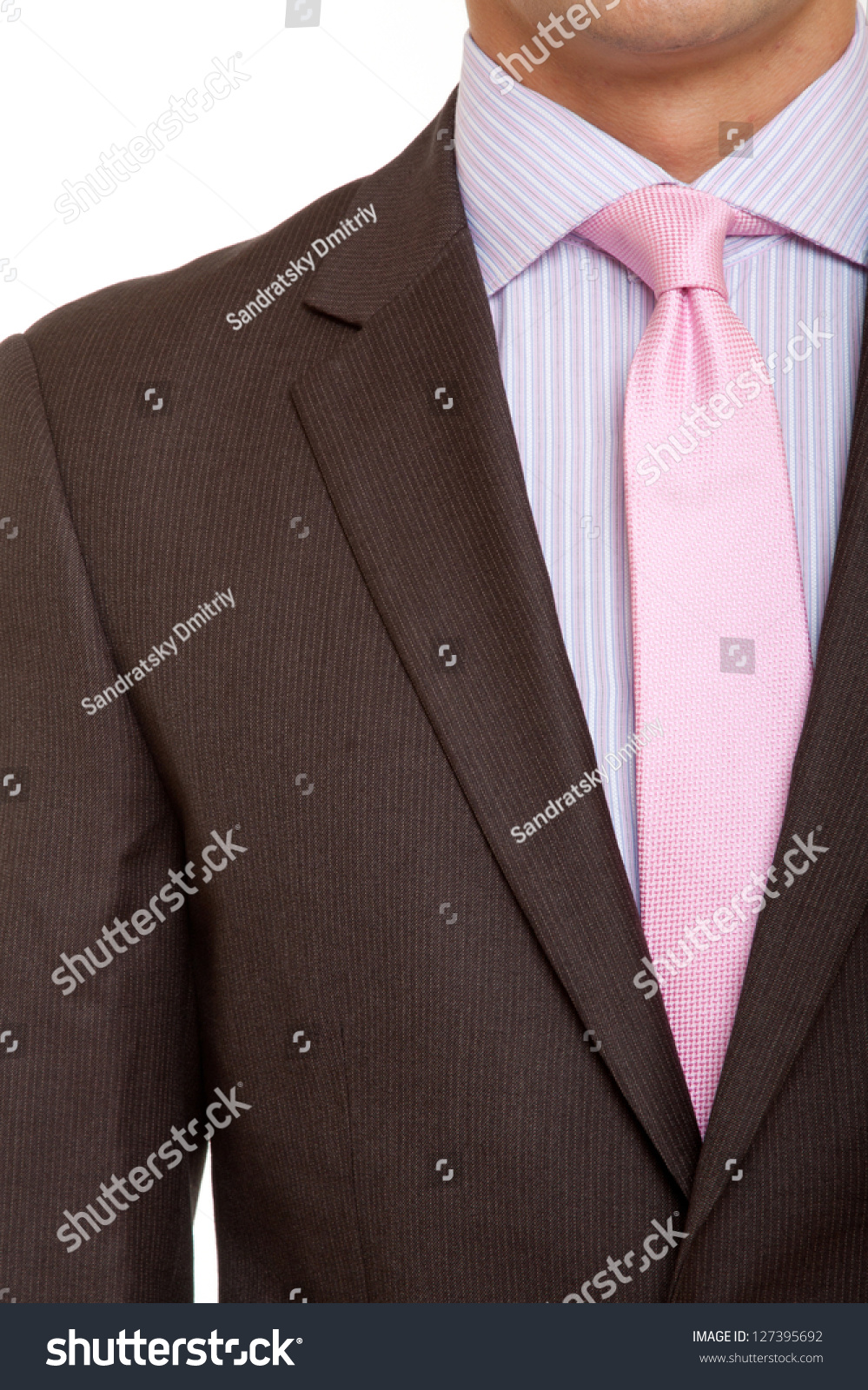 Brown Suit Pink Tie Stock Photo 127395692 - Shutterstock