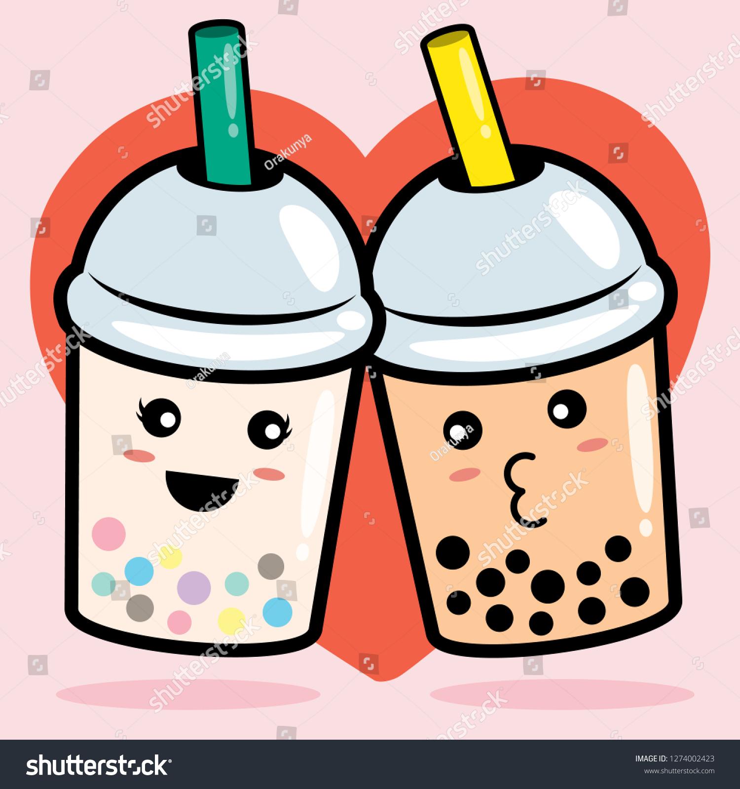 bubble milk tea vector illustration stock vector royalty free 1274002423 https www shutterstock com image vector bubble milk tea vector illustration 1274002423