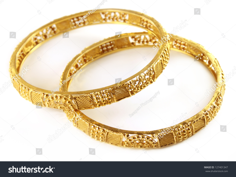 Wedding Gold Bracelets Indian Bride Stock Photo 127401347 ...
