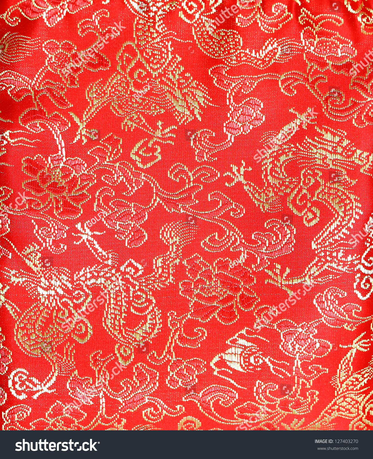 d2b07c69f Chineses Style Red Cloth Dragon Flower Stock Photo (Edit Now) 127403270