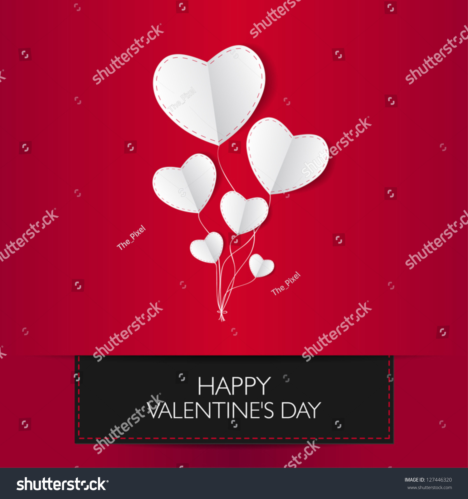 Valentines card text happy valentines day stock vector 127446320 valentines card with text happy valentines day and two paper white or silver heart kristyandbryce Images