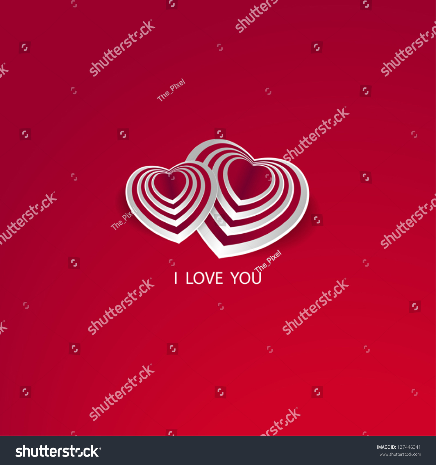 Valentines Card With Text I Love You And Heart Shape Symbol With