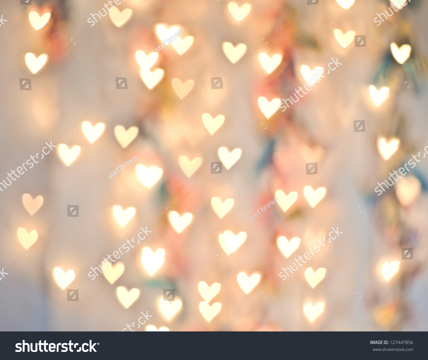 Pastel Heart Bokeh On Pale Background Stock Photo ...