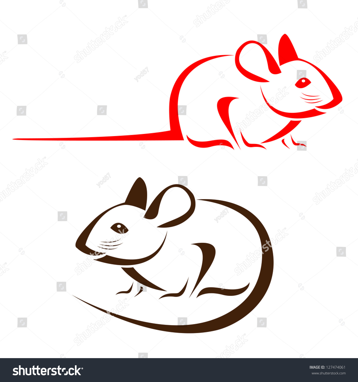 vector image rat on white background stock vector