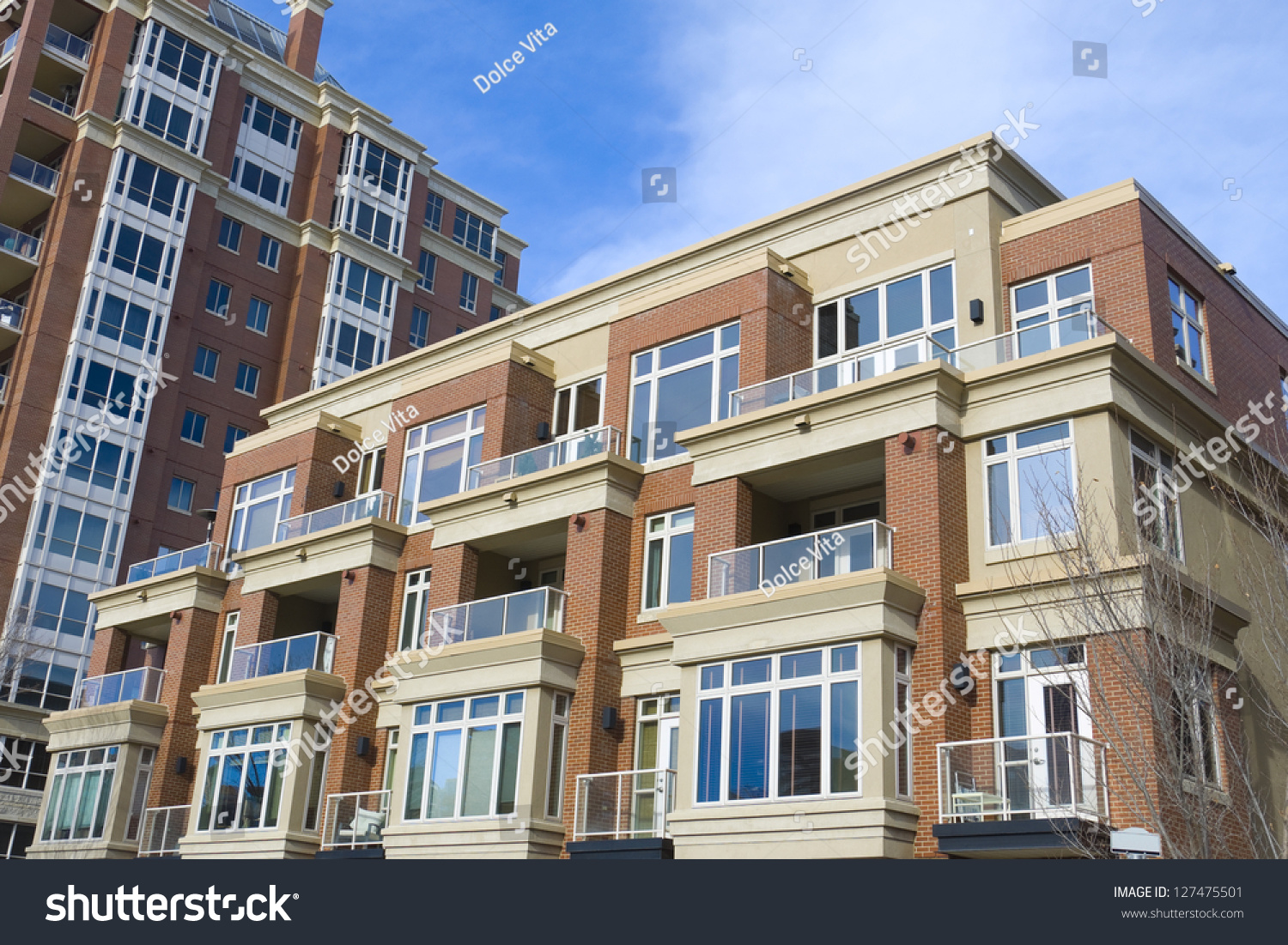 canadian modern residential architecture stock photo 127475501