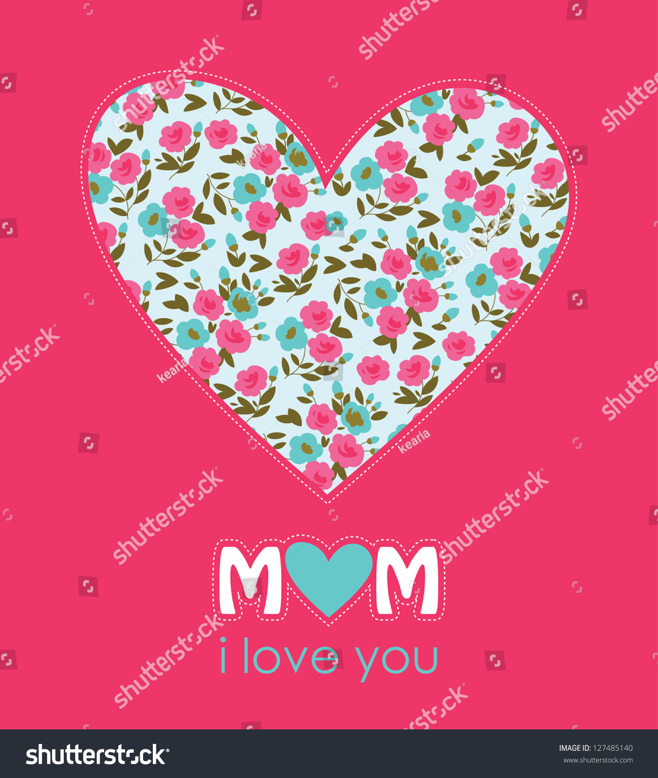 Happy Mothers Day Card Design Vector Stock Vector 127485140 ...