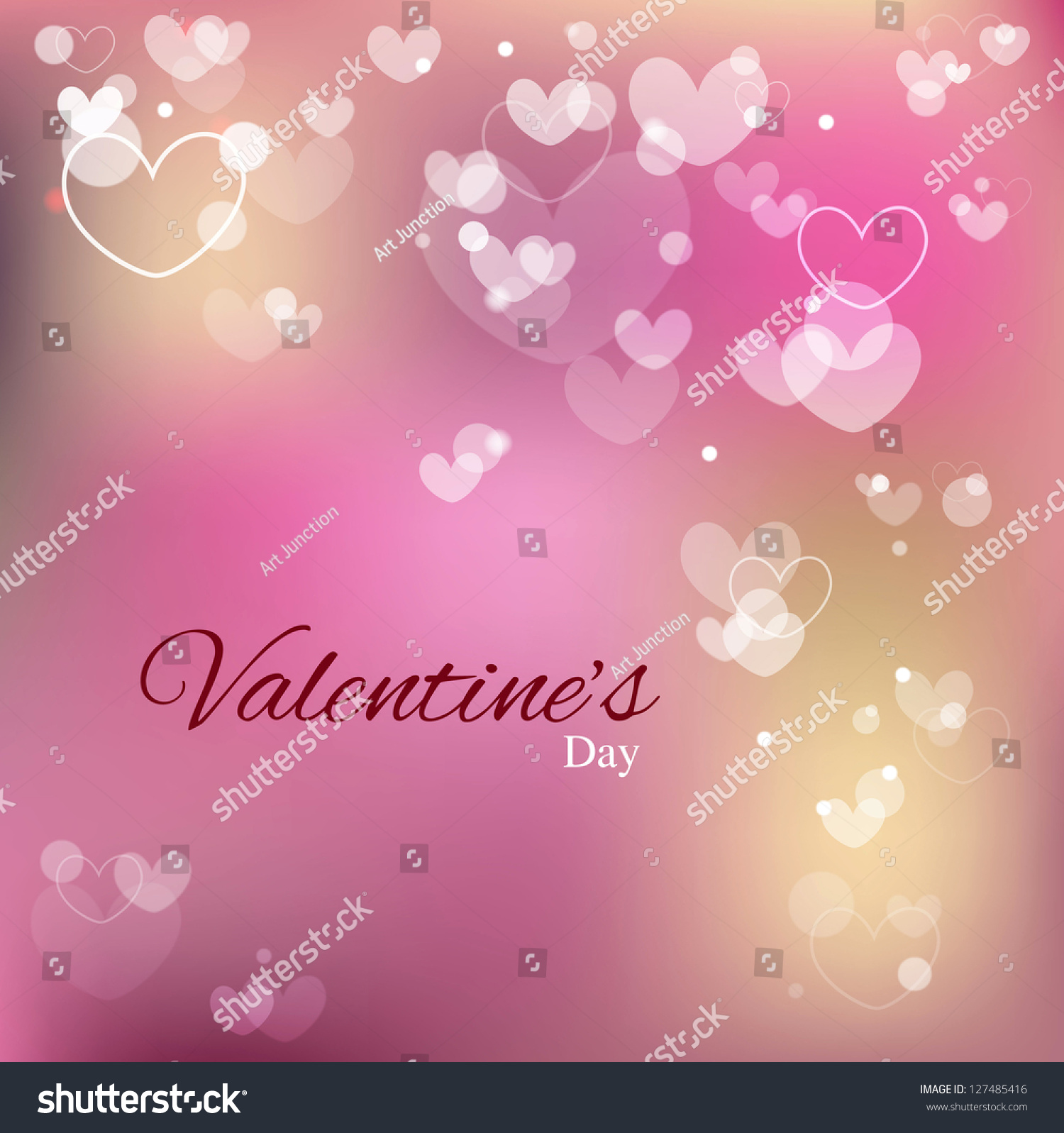Love Background Valentines Day Special Greetings Stock Vector
