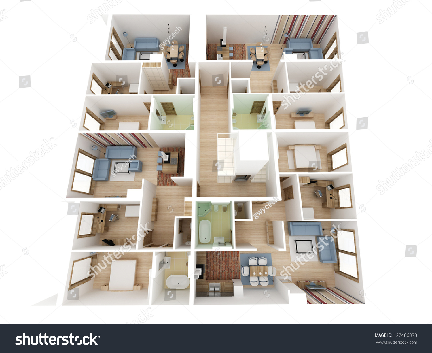 apartments level top view building design process stock photo save to a lightbox