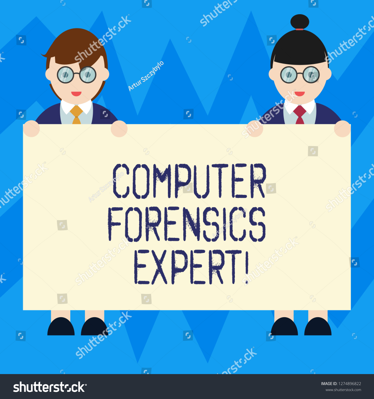 Text Sign Showing Computer Forensics Expert Stock Illustration 1274896822